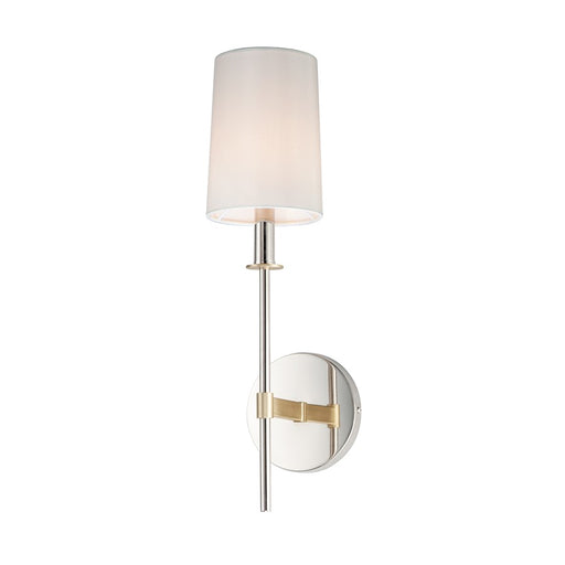 Maxim Lighting Uptown Wall Sconce, Satin Brass/Nickel