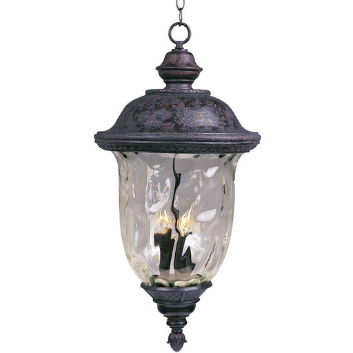 Maxim Carriage House DC 3-Light Outdoor Hanging Lantern, Bronze