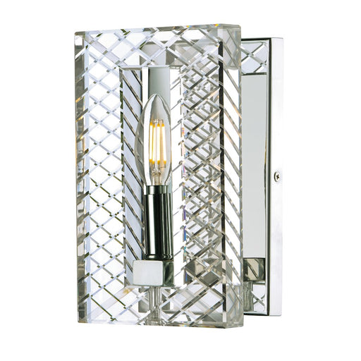 Maxim Lighting Suave 1 Light Wall Sconce, Polished Nickel
