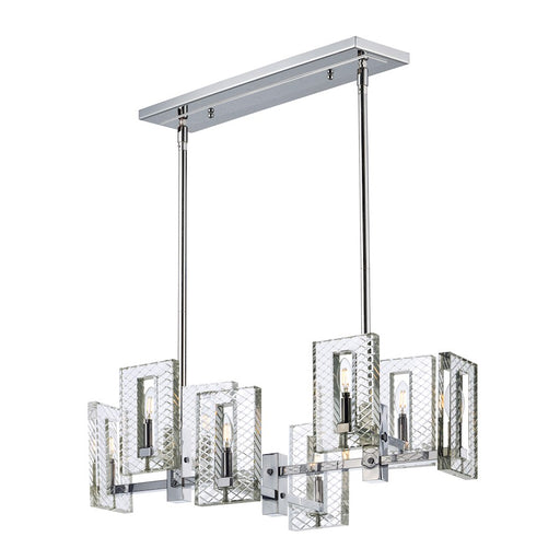 Maxim Lighting Suave 8 Light Linear Chandelier, Polished Nickel