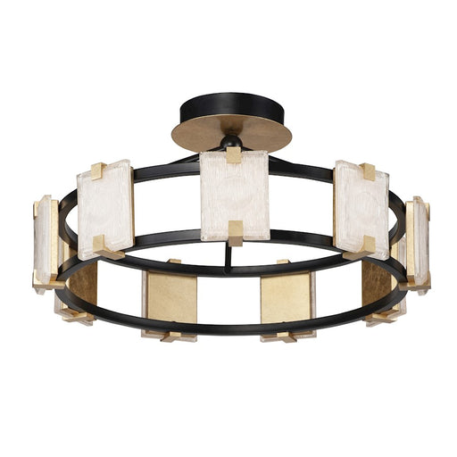 Maxim Lighting Radiant LED 9-Light Flush Mount, Black/Gold Leaf