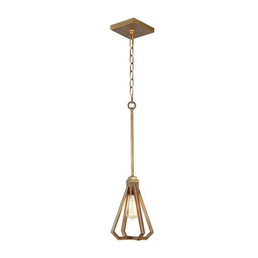 Maxim Lighting Woodland Single Pendant, Hazel/Burnished Gold