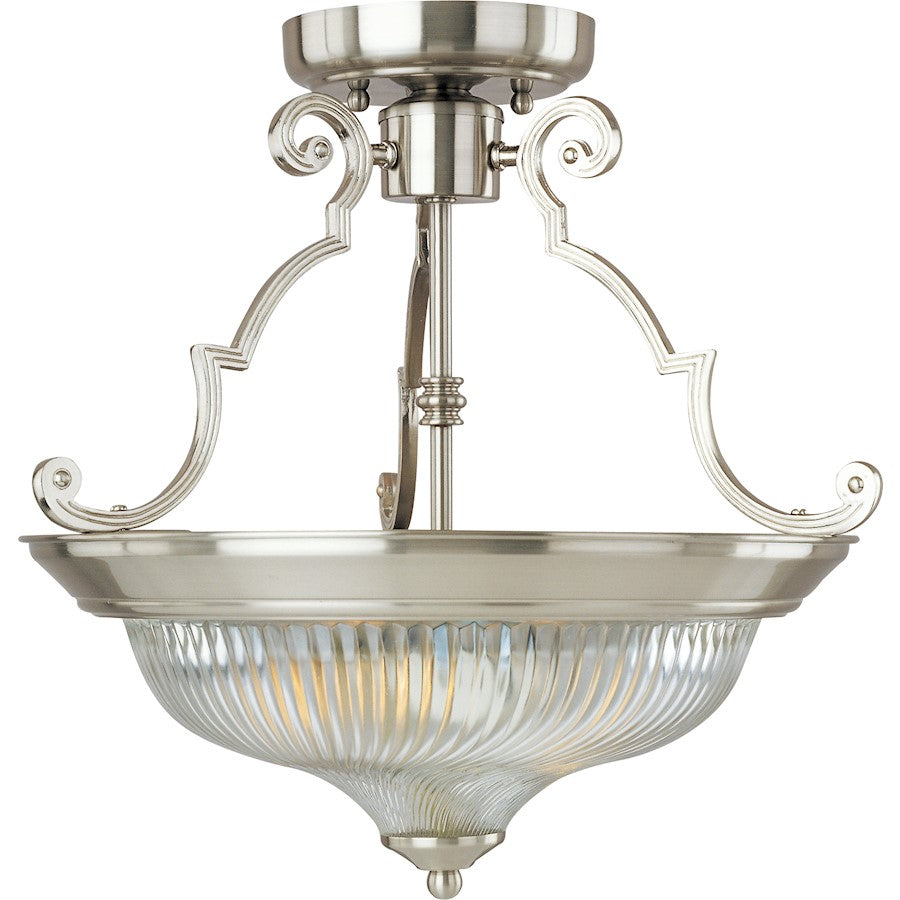 Maxim Lighting 2-Light Semi-Flush Mount, Satin Nickel