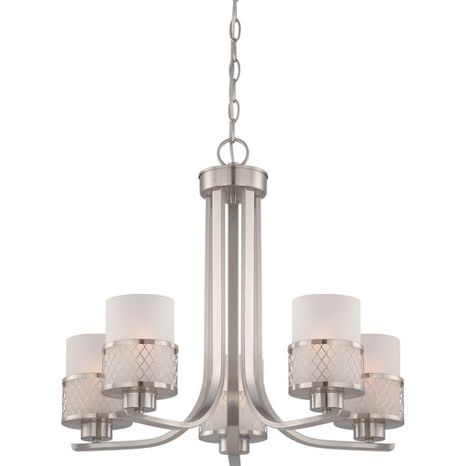 Nuvo Lighting Fusion Chandelier w/ Frosted Glass