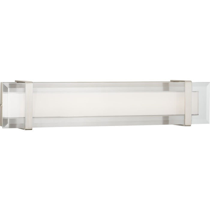 Progress Lighting Miter LED Vanity, Clear White/Nickel
