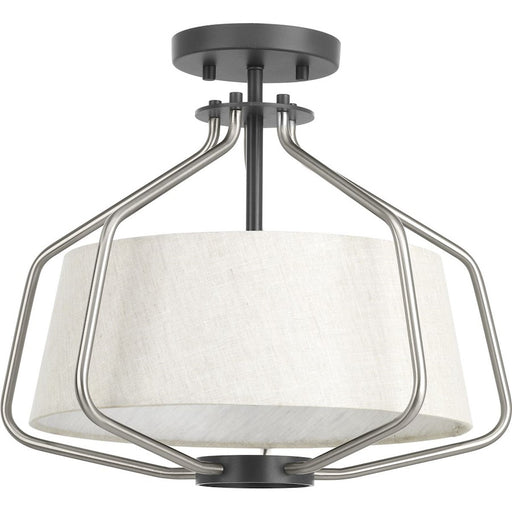 Progress Lighting Hangar Semi-Flush Convertible, Brushed Nickel