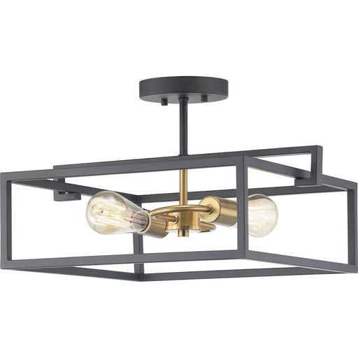 Progress Lighting Blakely 2-Light Semi-Flush Convertible, Graphite