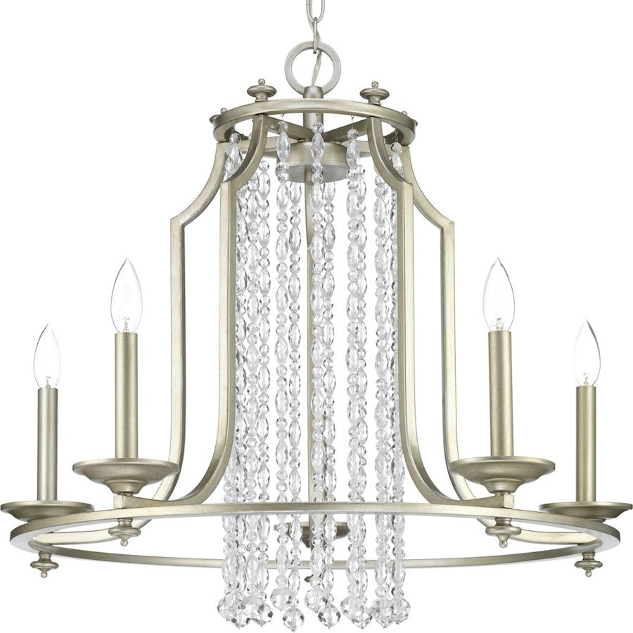 Progress Lighting Desiree 5-Light Chandelier, Silver Ridge