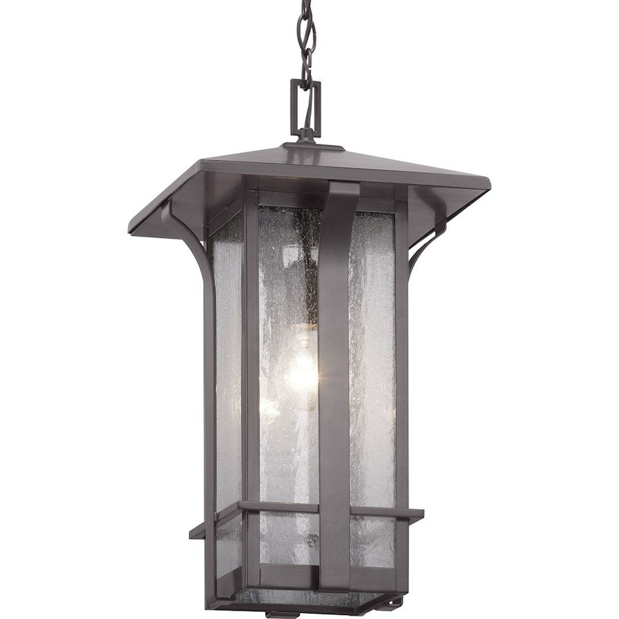 Progress Lighting Cullman 1-Light Hanging Lantern, Seeded/Bronze