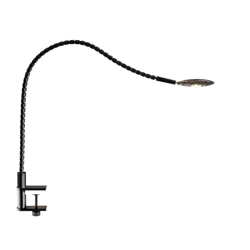 Adesso ADS360 Natrix LED Clamp Lamp, Black/Brushed Steel - AD9122-01
