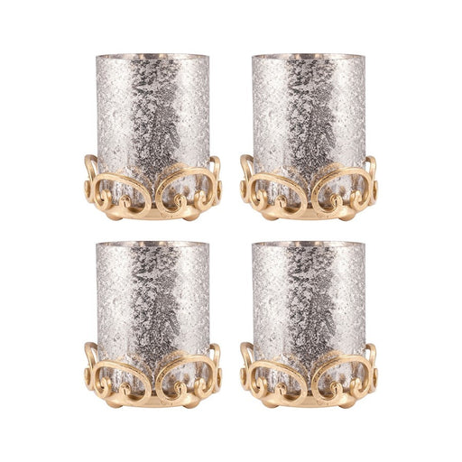 ELK Lifestyle Gwendolyn Pillar Holders (Set of 4), Gold - 519468-S4