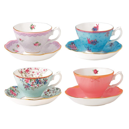 Royal Albert Candy Teacups & Saucers, Set of 4 - 40002539