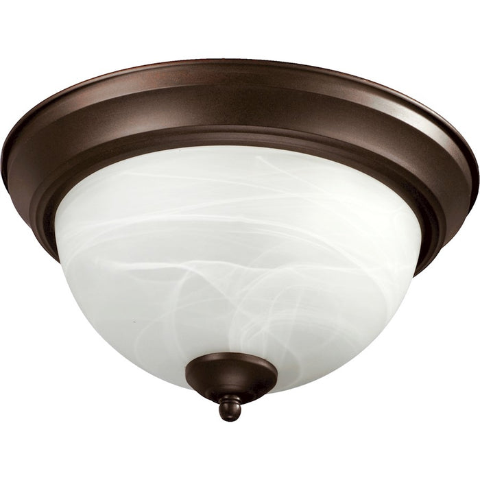 Quorum 3 Light Flush Mount, Faux Alabaster