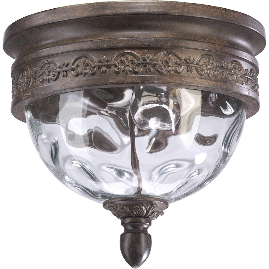 Quorum Georgia 2 Light Flush Mount, Etruscan Sienna