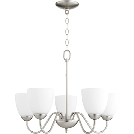 Quorum 5 Light Opal Chandelier
