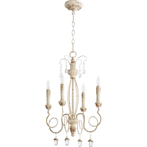 Quorum Venice Chandelier, Persian White