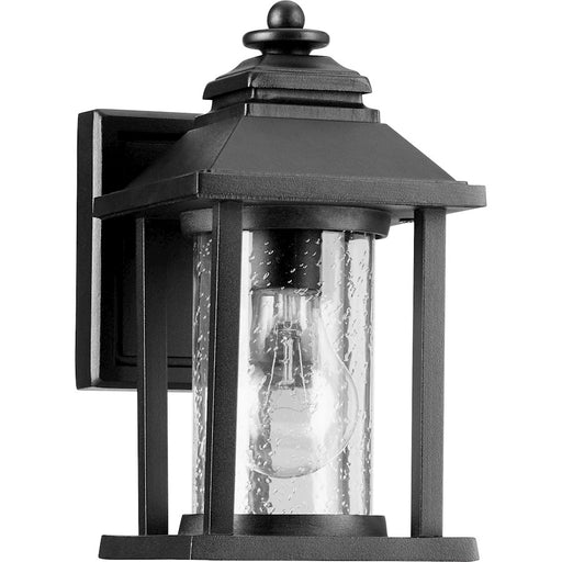 Quorum Crusoe 1 Light Outdoor Lantern, Noir