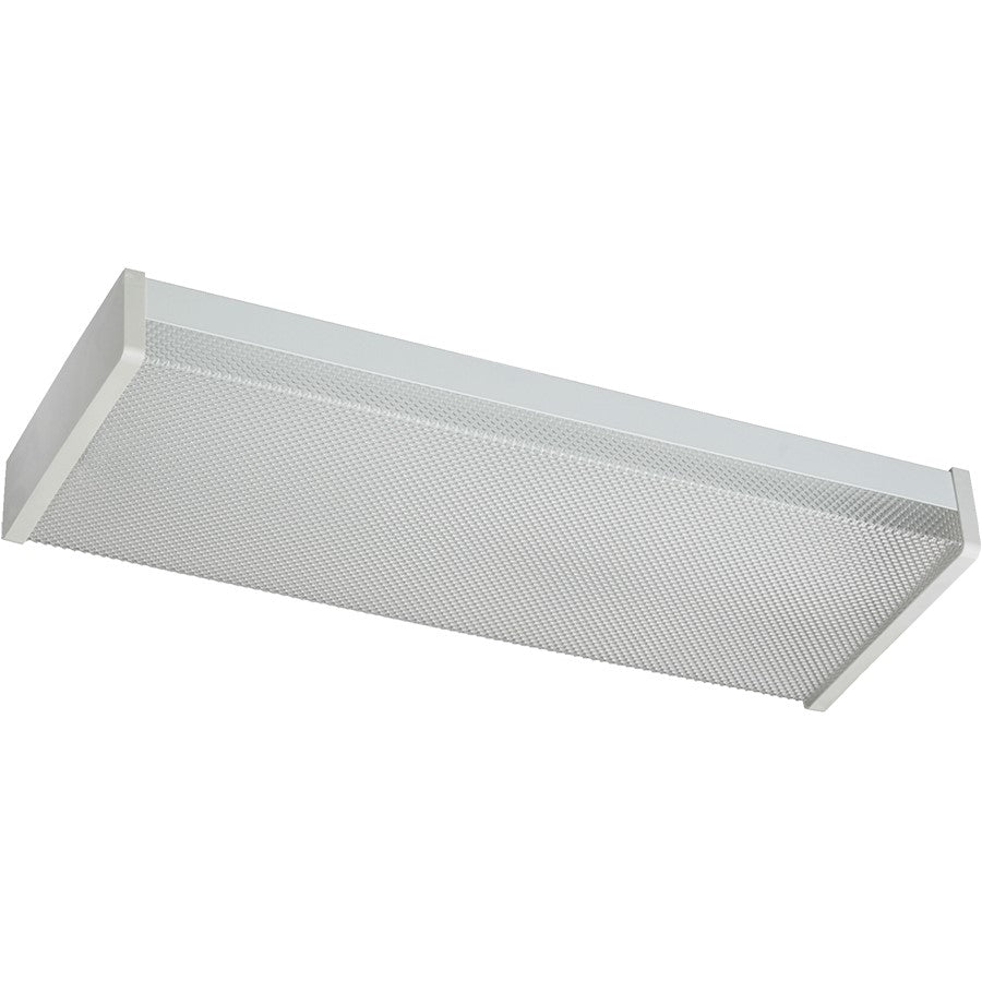 Quorum 2 Light 20W Flush Mount, White, 24""