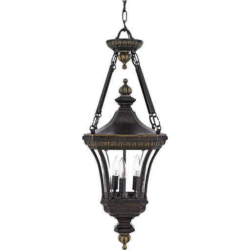 Quoizel 3 Light Devon Outdoor Pendant, Imperial Bronze