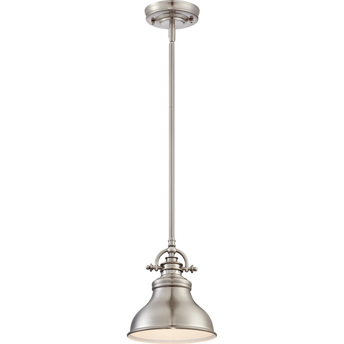 Quoizel Emery Mini Pendant, Brushed Nickel