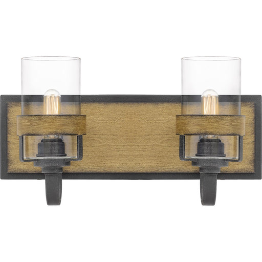 Quoizel Finch 2 Light Bath, Aged Walnut/Clear Glass - FIN8616AWN