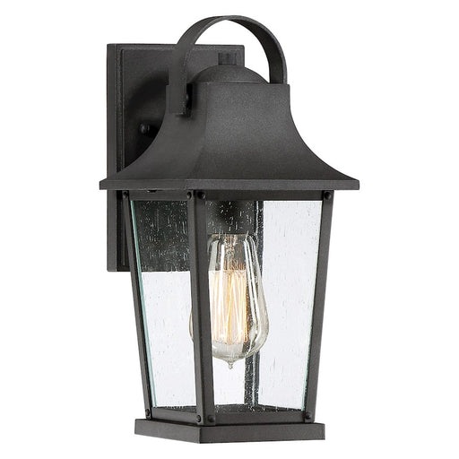 Quoizel Galveston Small Outdoor Wall Lantern, Mottled Black