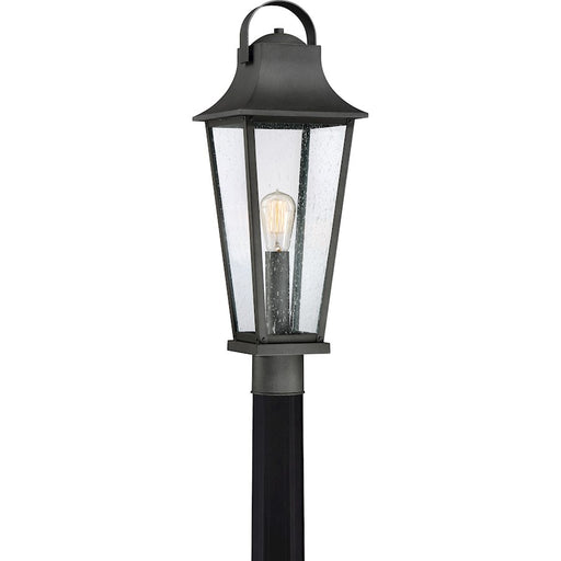 Quoizel Galveston Transitional Outdoor Lantern, Mottled Black