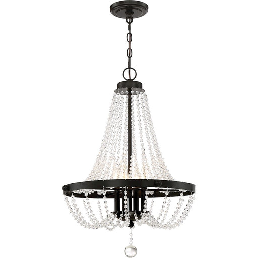 Quoizel Livery 4 Light Pendant, Western Bronze