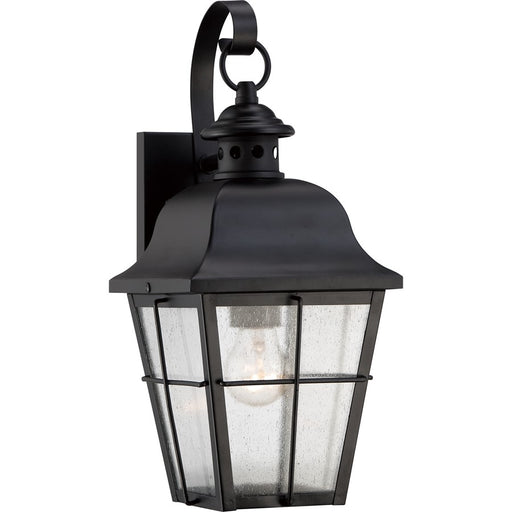 Quoizel Millhouse Outdoor Wall Lantern, Mystic Black