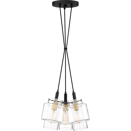 Quoizel Naomi Industrial Pendant, Earth Black