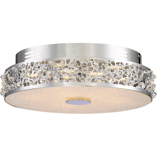 Quoizel Platinum Amber Glow Light Flush Mount, Med, Polished Chrome
