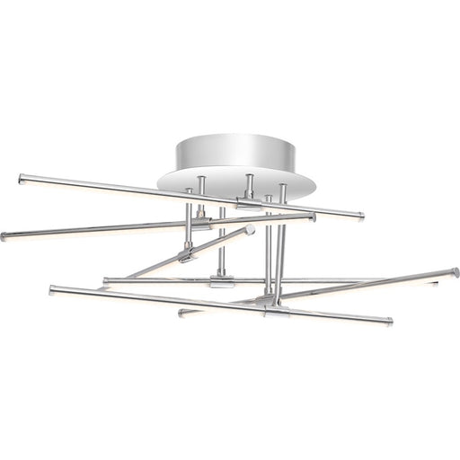 Quoizel Platinum Lightshow Semi-Flush Mount, Polished Chrome