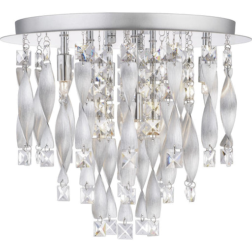 Quoizel Twinkle 6 Light Flush Mount, Polished Chrome/Clear Glass - PCTK1616C