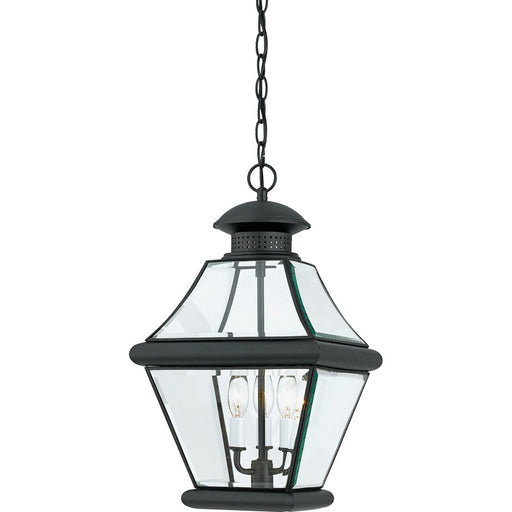 Quoizel 3 Light Rutledge Outdoor Pendant, Mystic Black
