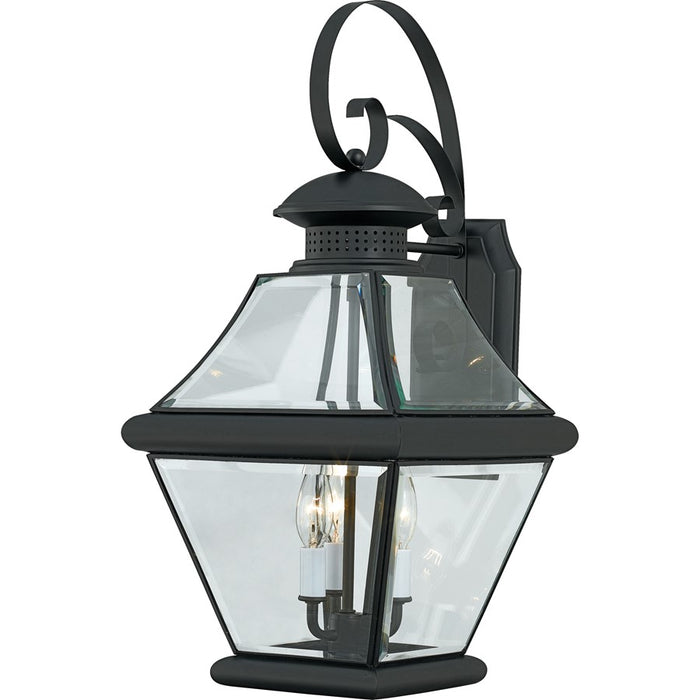 Quoizel 1 Light Rutledge Outdoor Wall Lantern, Mystic Black