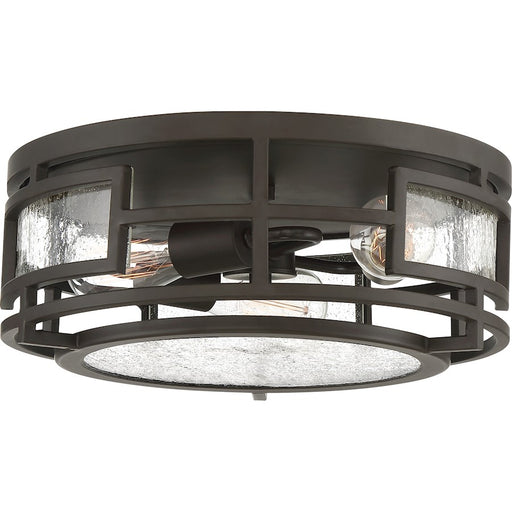 Quoizel Sector 3 Light Flush Mount, Old Bronze