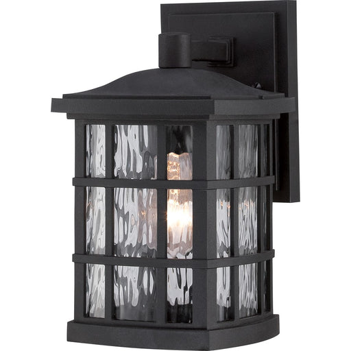 Quoizel Stonington Outdoor Wall Lantern, Mystic Black