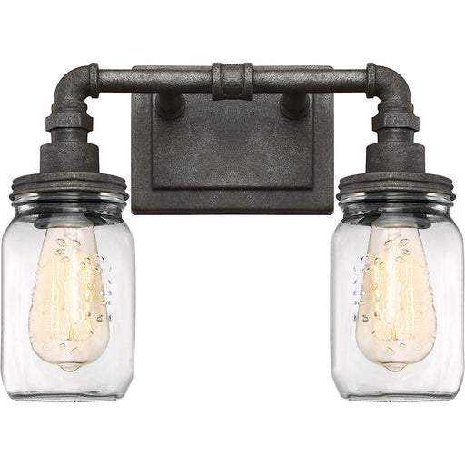 Quoizel Squire Bath Light, Rustic Black