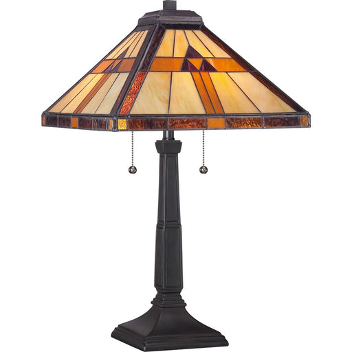 Quoizel 2 Light Bryant Tiffany Table Lamp