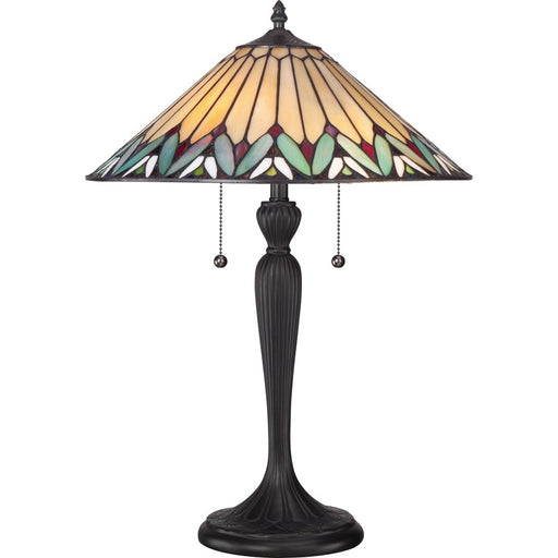 Quoizel 2 Light Pearson Tiffany Table Lamp