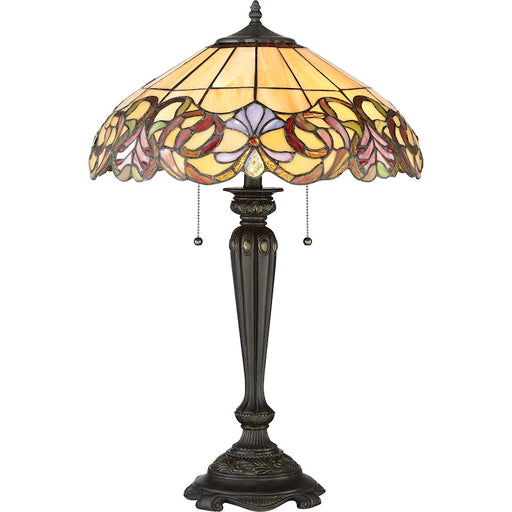 Quoizel Blossom 2 Light Table Lamp, Imperial Bronze