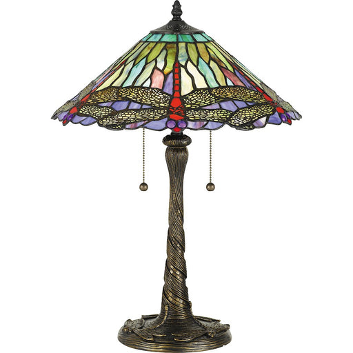 Quoizel Skimmer 2 Light Table Lamp Tiffany/Multicolor Tiffany Glass - TF5220T
