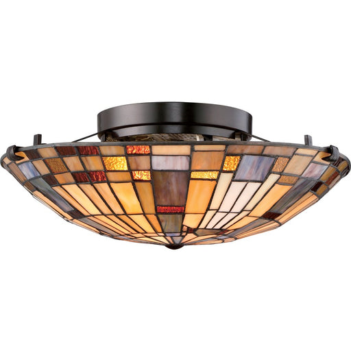Quoizel Inglenook 2 Light Flush Mount, Valiant Bronze