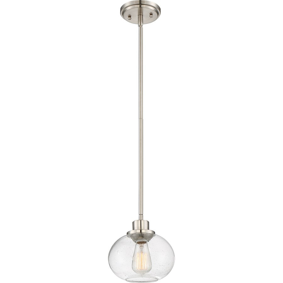 Quoizel Trilogy Mini Pendant, 1 Light, Brushed Nickel