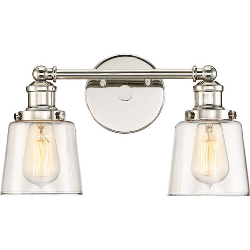 Quoizel Union Bath Light, Polished Nickel
