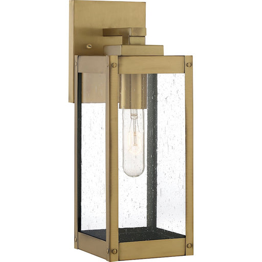 Quoizel Westover 1 Light Outdoor Wall Lantern, Antique Brass