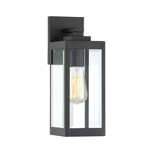 Quoizel Westover Outdoor Wall Lantern, Earth Black