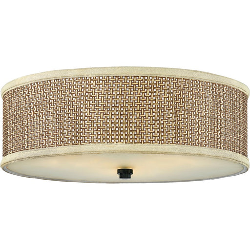 Quoizel 3 Light Zen Flush Mount, Mystic Black