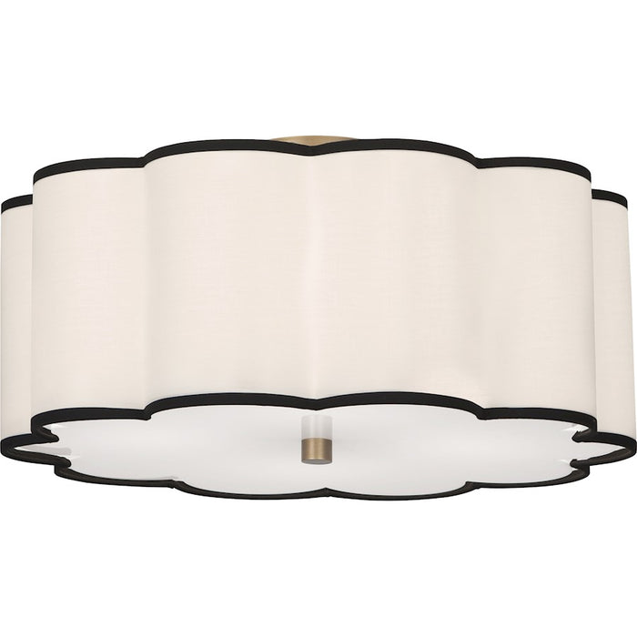 Robert Abbey Axis 4 Light Flushmount, Aged Brass - 2200