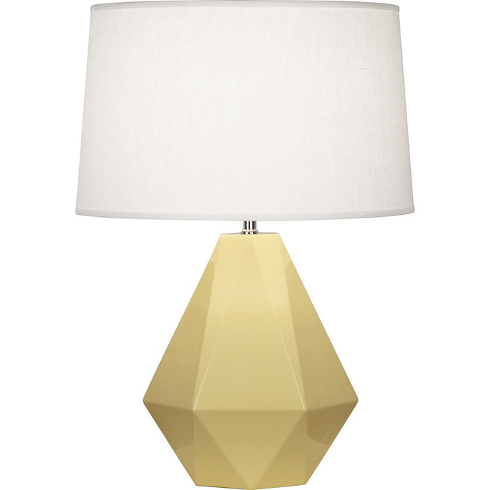 Robert Abbey Delta 1 Light Table Lamp, Butter/Polished Nickel - 940